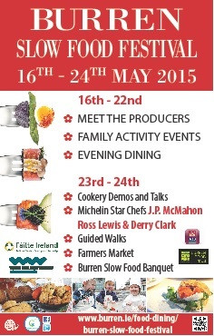 BURREN FOOD TRAIL join Slow Food Clare in Burren Slow Food Festival 16- 24th May