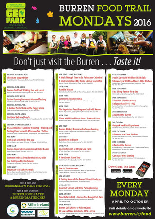 BURREN FOOD TRAIL MONDAYS
