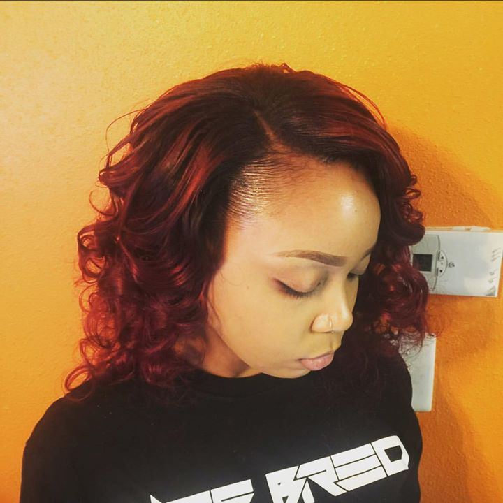 Full Weave with Side Part