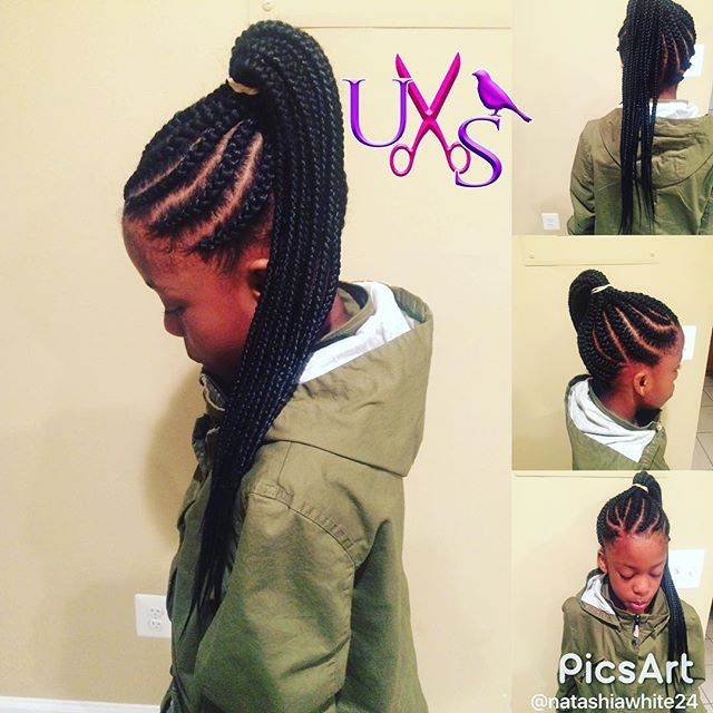 Braid ponytail...