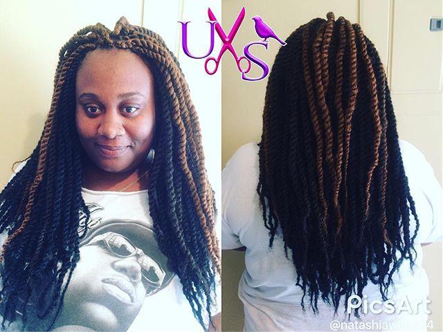 Marley Twist on this cutie #naturalhairstyles #braids #ilovewhatido #marleytwist #uniquestylesbybird