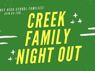 Creek High School Family Night Out