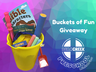 Buckets of Fun Giveaway, Preschool Event
