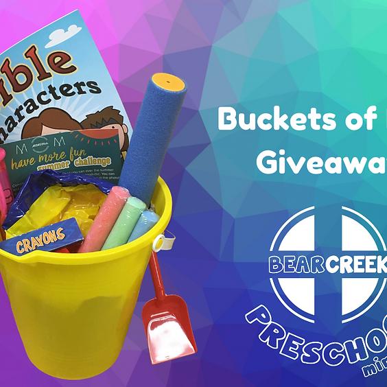 Buckets of Fun Giveaway - Preschool Ministry