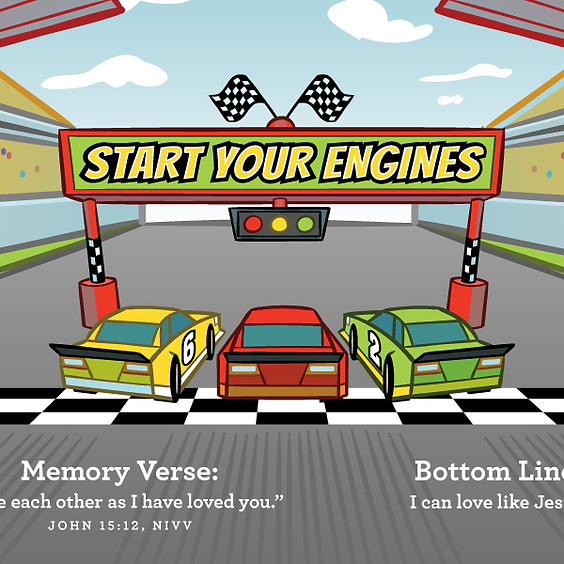 Start Your Engines - March's Lesson Series in the Preschool Ministry