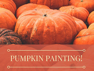 Pumpkin Painting! for Adults, Students, Children, Preschool