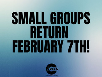 Creek Small Group Kickoff Student Ministry