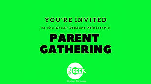 Parent Gathering - Student Ministry