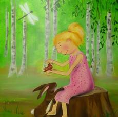 Maedchen im Wald