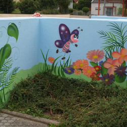 Kindergartenmauer