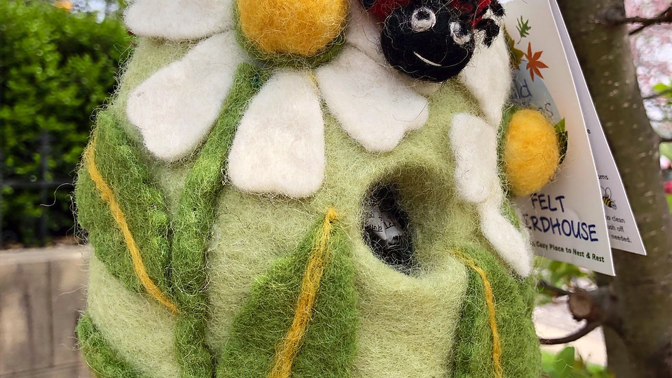 Lady Bug Felt Bird House