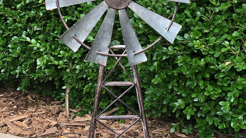 Metal Windmill Table Decor