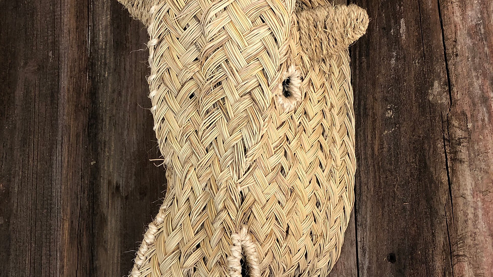 Woven Seagrass Cow Head Wall Mount