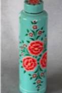 Blue Multi-Color Floral Thermal Flask