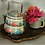 Thumbnail: Hand-Painted Silver Floral 2-Tier Tiffin