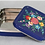 Thumbnail: Hand-painted Deep Blue Floral Square Lunch Box