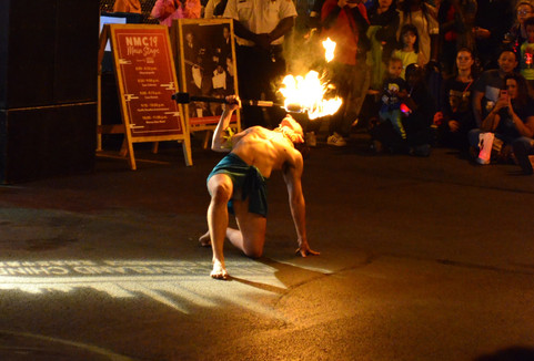 2019 Night Market - Fire Dance Performance