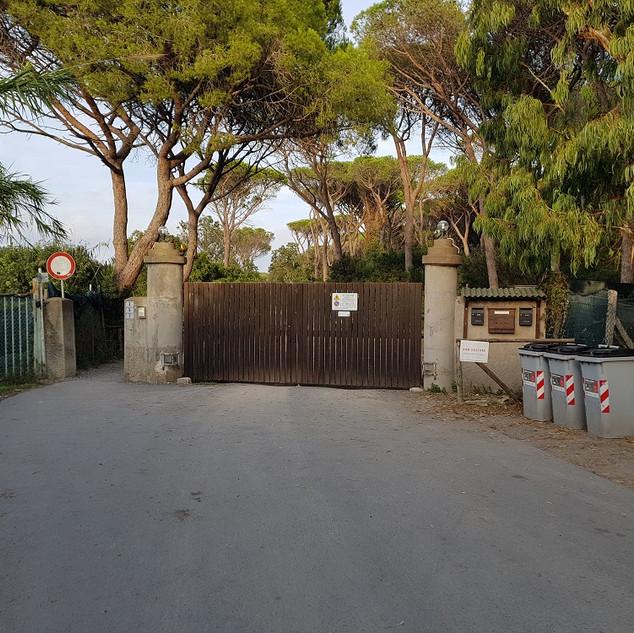 Forestale Cancello Lato Porto Ercole