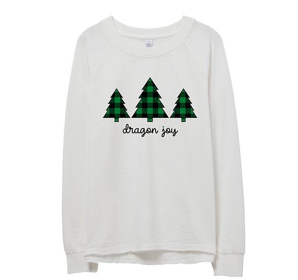 Southlake Holiday Tree Raw-edge Sweatshirt