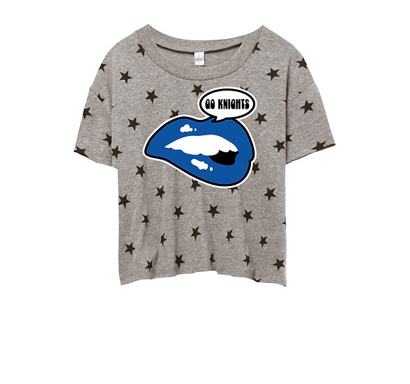 Elkins Lips Crop Star Tee