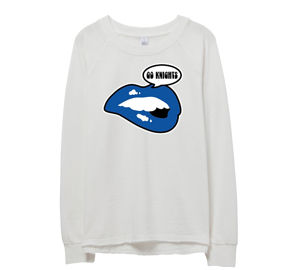 Elkins Lips Raw-edge Sweatshirt