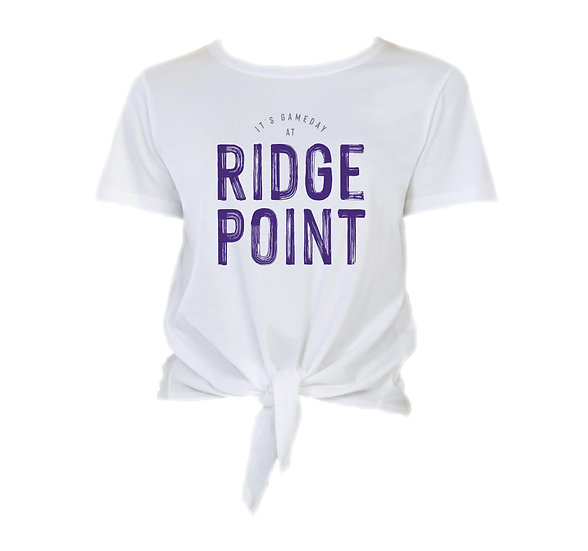 Ridge Point It's Gameday Tie Front Crop Tee