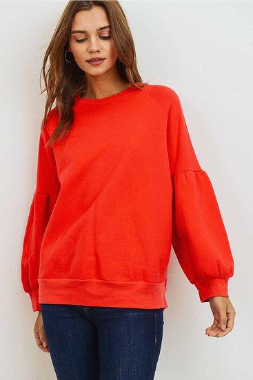 Bubble Sleeve Sweatshirt