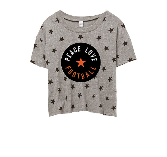 OSU Peace Love Football Crop Star Tee