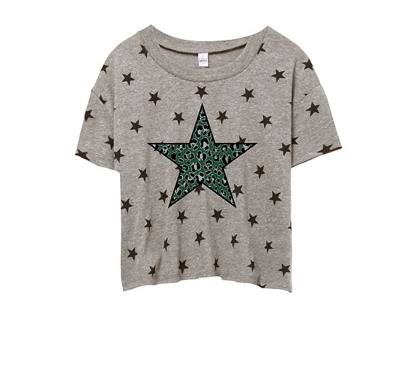 Hightower Leopard Star Crop Star Tee