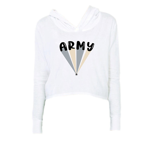 West Point Bubble Crop Hoodie