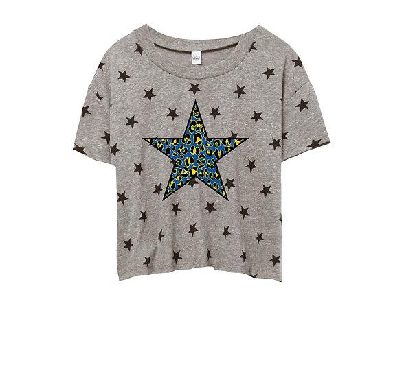 Elkins Leopard Star Crop Star Tee