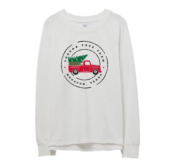 Houston Holiday Truck Raw-edge Sweatshirt