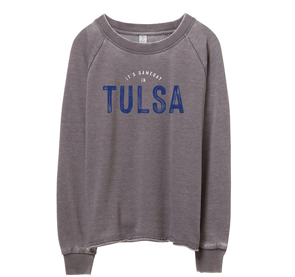 Tulsa Gameday in City Raw-edge Sweatshirt