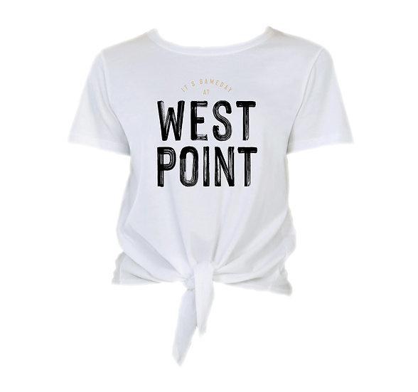 West Point Gameday in City Tie Front Crop Tee
