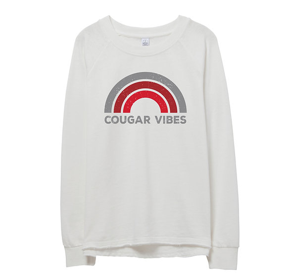 Houston Rainbow Raw-edge Sweatshirt