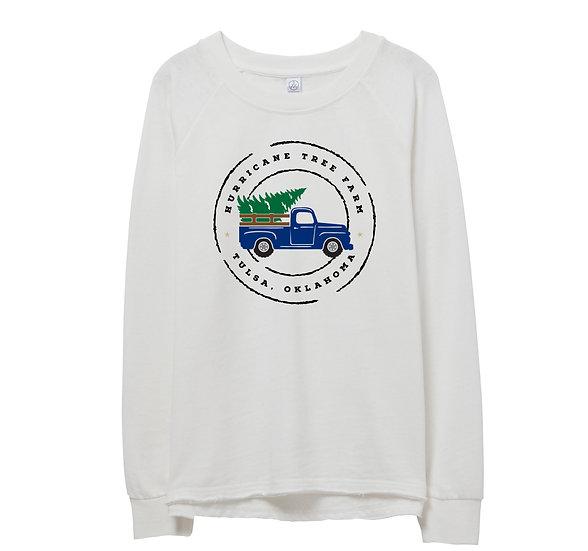 Tulsa Holiday Truck Raw-edge Sweatshirt