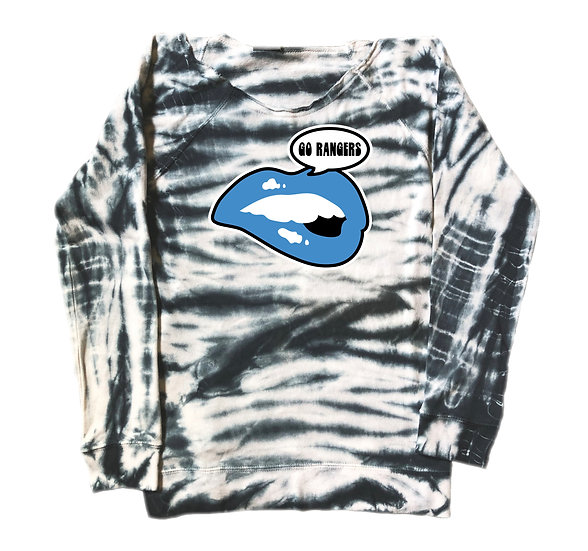 Clements Lips Tie Dye Sweatshirt