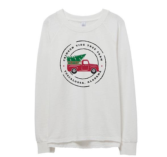 Alabama Holiday Truck Raw-edge Sweatshirt