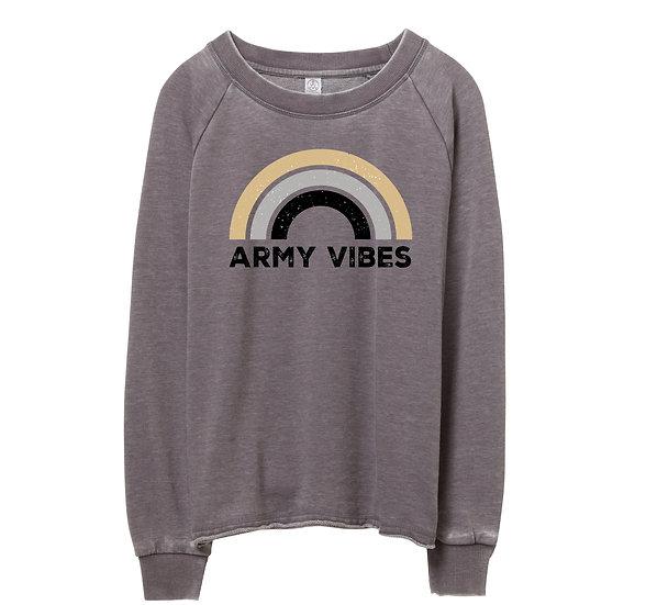 West Point Rainbow Raw-edge Sweatshirt
