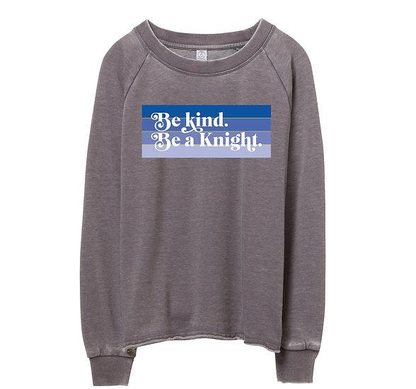 Elkins Be Kind Raw-edge Sweatshirt