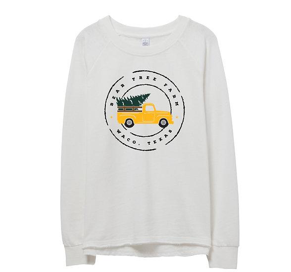 Baylor Holiday Truck Raw-edge Sweatshirt