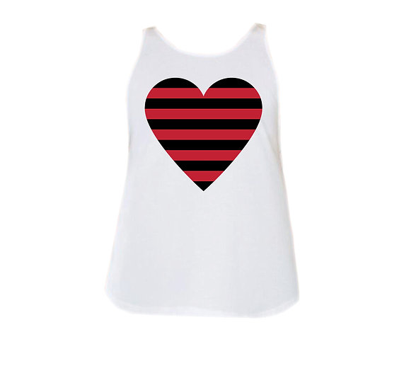 Arkansas Striped Heart Rounded Tank