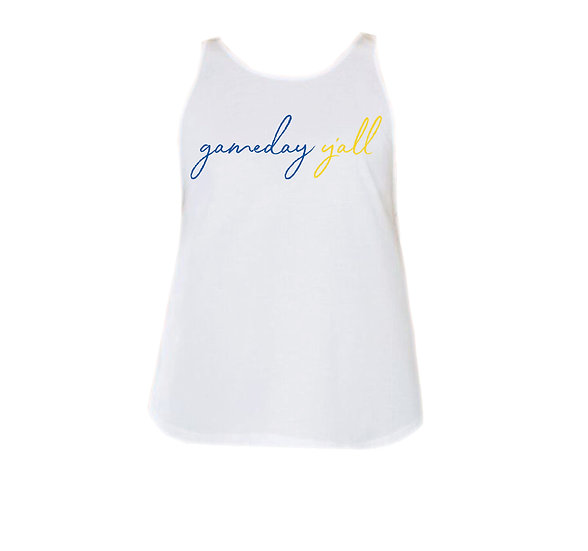 Elkins Gameday Y'all Rounded Tank