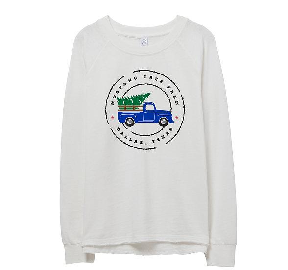 SMU Holiday Truck Raw-edge Sweatshirt