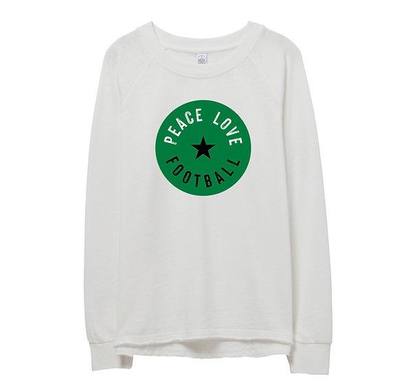 Southlake Peace Love Football Raw-edge Sweatshirt