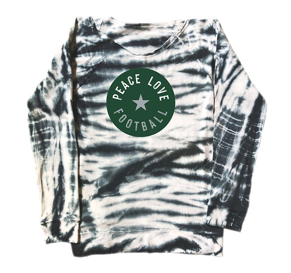 Hightower Peace Love Football Tie Dye Sweatshirt