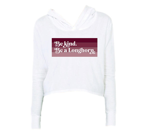 George Ranch Be Kind Crop Hoodie