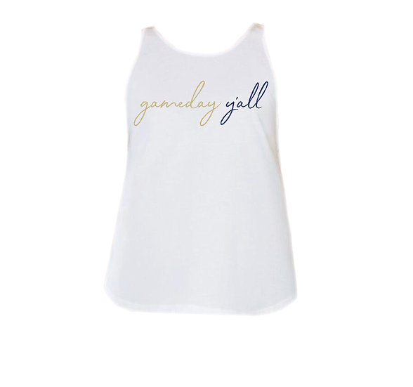 Tulsa Gameday Y'all Rounded Tank