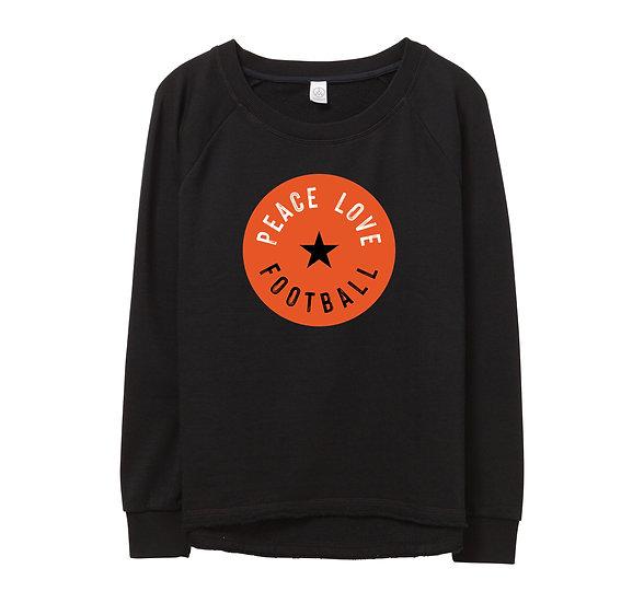 OSU Peace Love Football Raw-edge Sweatshirt