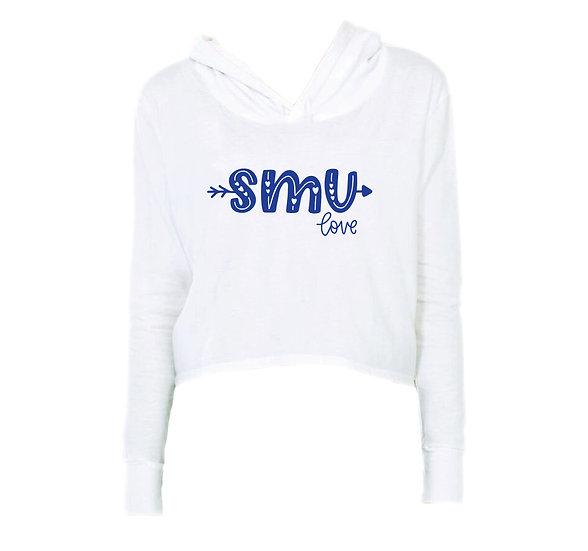 SMU City Love Crop Hoodie